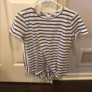 NWT J. By J. Crew short sleeve open back shirt